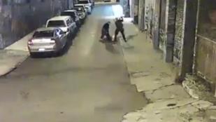 Brutálisan verték a rendőrök a gyanúsítottat az autós üldözés végén