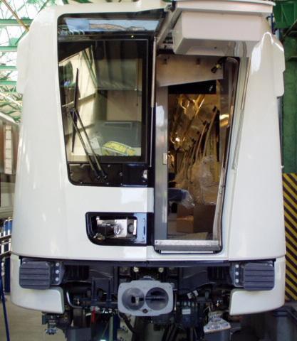 Az Alstom metrókocsi vészkijárata