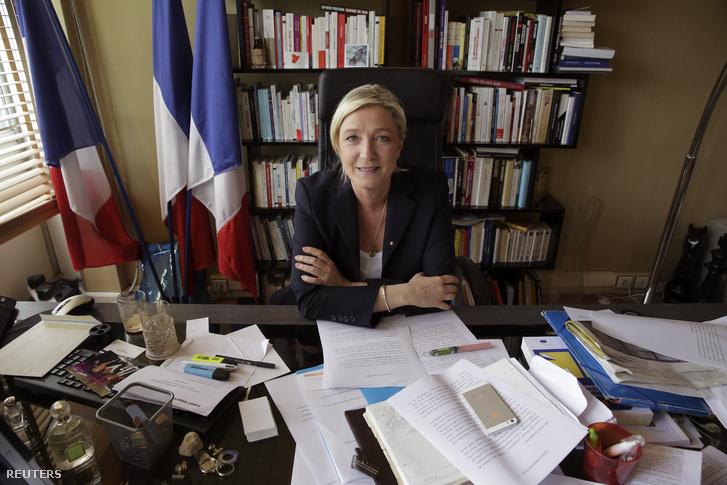 Marie Le Pen a francia szélsőjobb vezére.