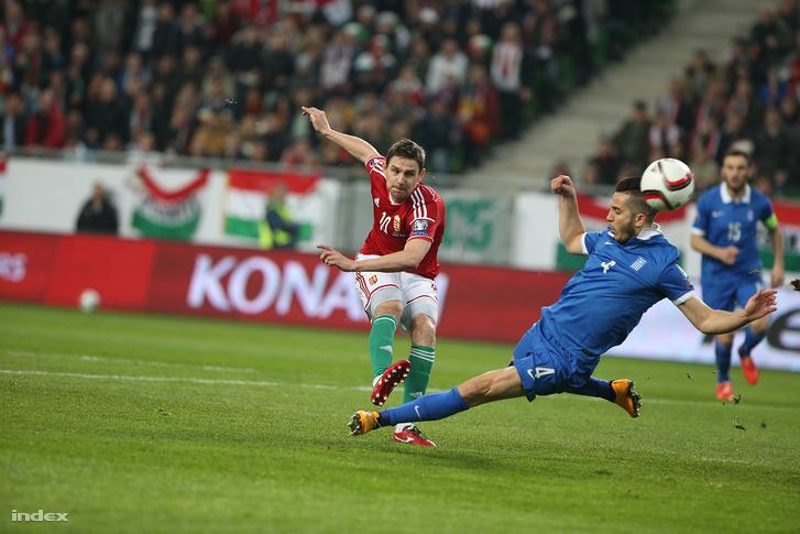 Gera Zoltán a Magyarország-Görögország Európa-bajnokság selejtező mérkőzésén 2015. márciusában.