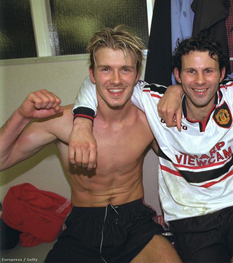 1999. április 14. (segítünk, David Beckham a kép bal szélén látható)