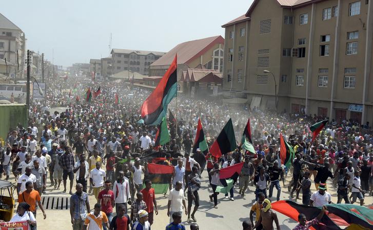 Ellenzéki tüntetés Nigériában november 18-án