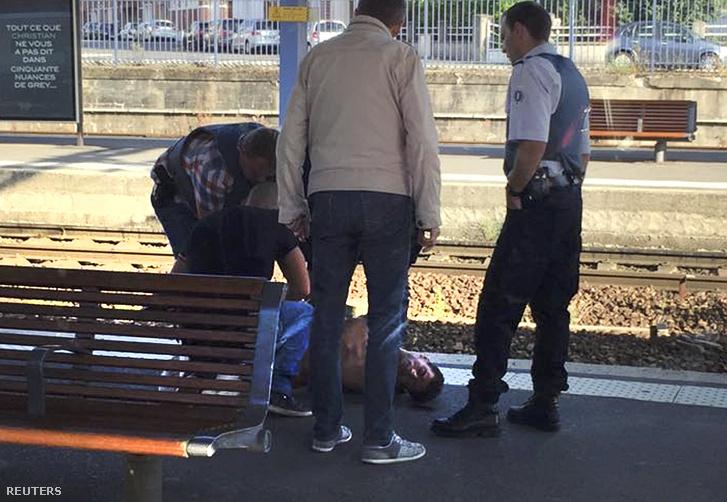 Az Amszterdamból Párizsba tartó Thalys gyorsvonaton leterített terrorista, 2015. augusztus 28-án.