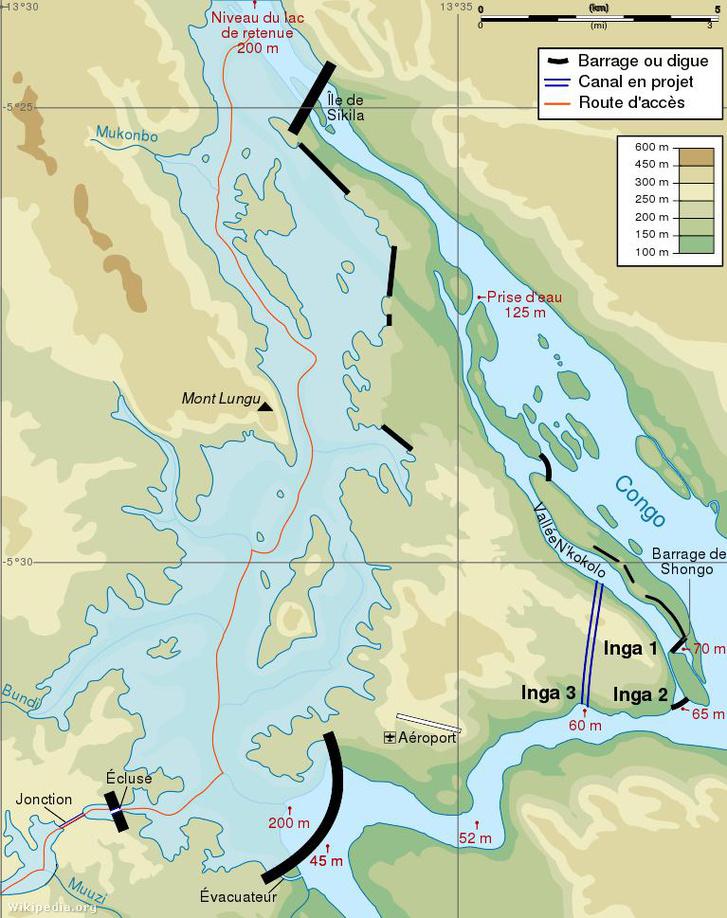 Az Inga III és a Nagy-Inga tervei, 2006-os állapot.