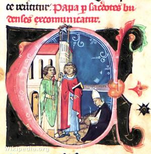 A budai papok kiátkozzák a pápát.