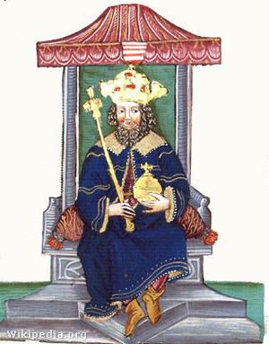 Vencel király ábrázolása Thuróczi János krónikájában