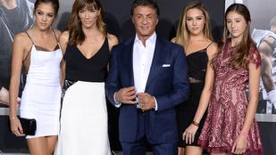 Ki ez a sok jónő Sylvester Stallone mellett?