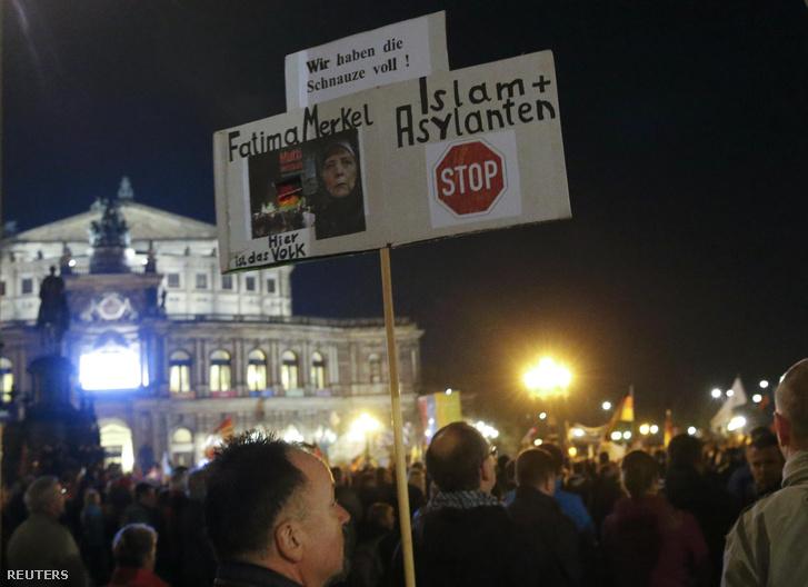 Pegida tüntetés Németországban