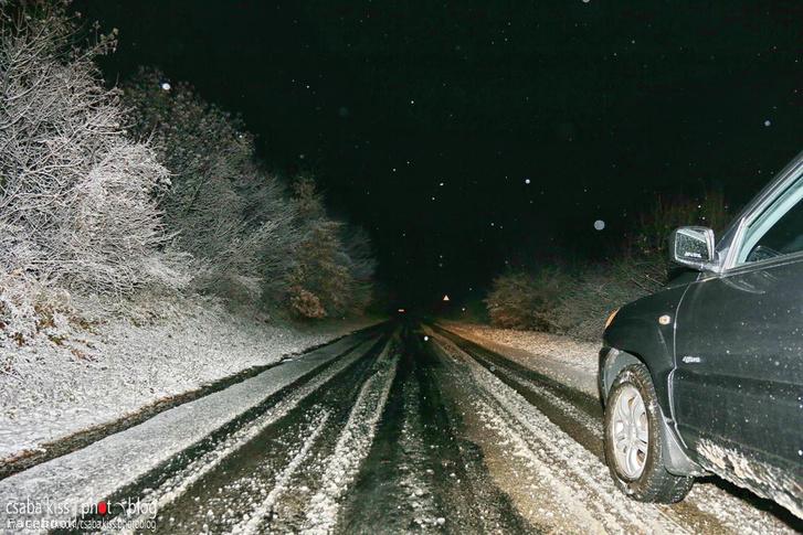 Éjjel havazott a Mecsekben