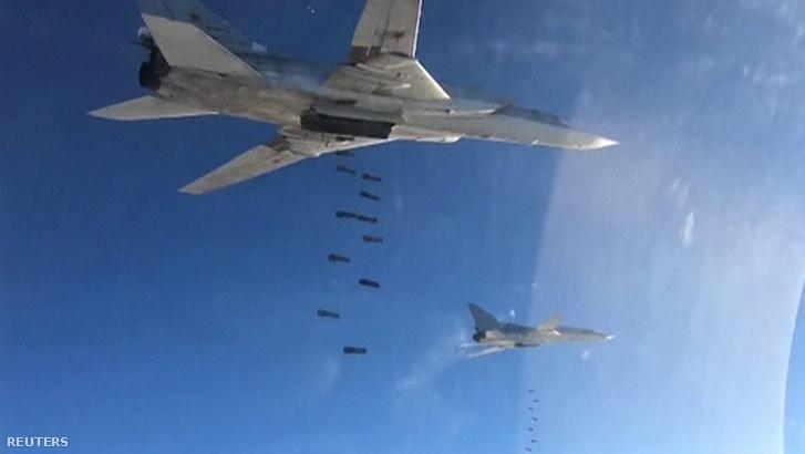Orosz bombázás Szíriában