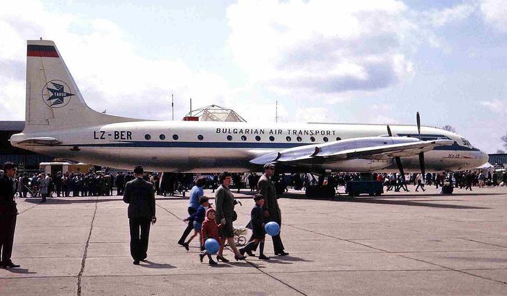 A TABSO egy másik Ilyushin II-18-asa. Így nézett ki a 101-es járat is