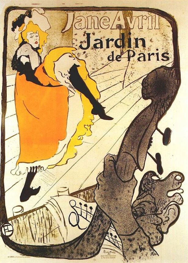 Jane Avril tánc közben (1893)