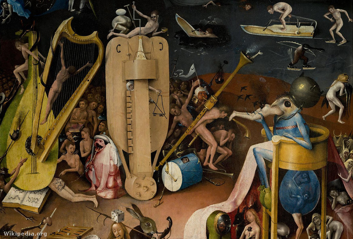 A szóban forgó találmány Hieronymus Bosch festményén