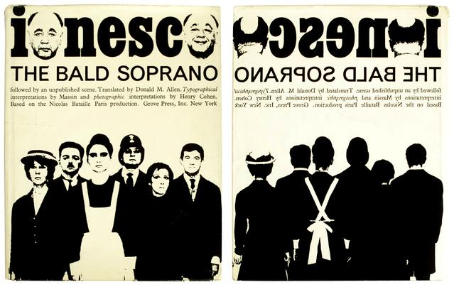 A kopasz énekesnő angol nyelvű kiadványa Robert Massin illusztrációival (1964)