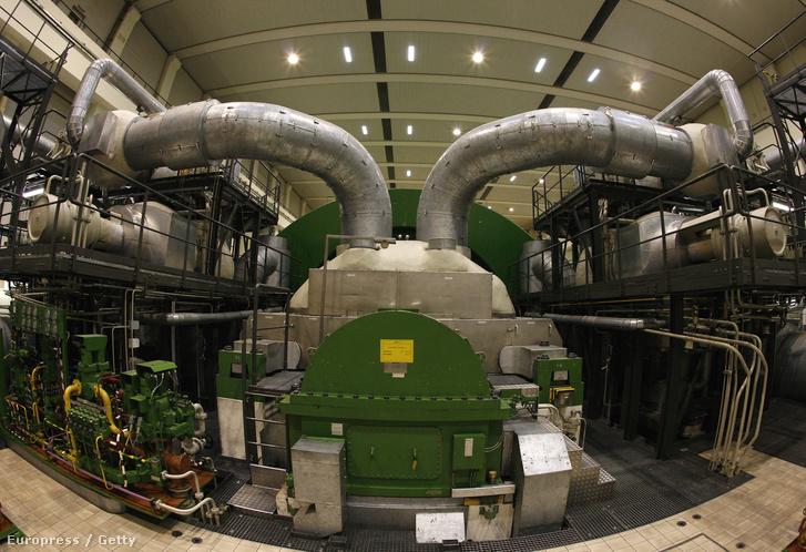 Siemens nagynyomású turbina az EON essenbachi Isar atomerőművében