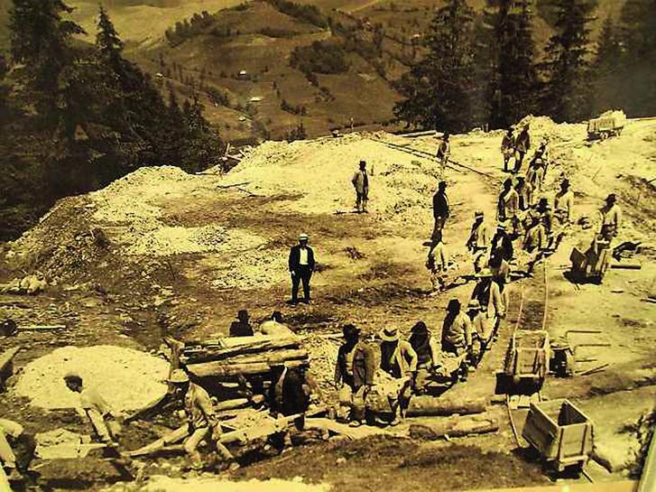 Román bányászok a XIX. században