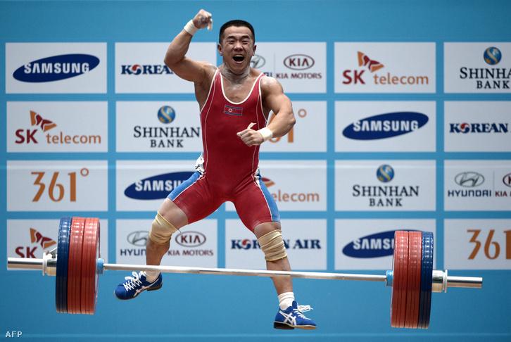 Om Juncsol a 2014-es Ázsia-játékokon az 56 kg-osok között elért győzelme után