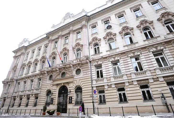 A Szellemi Tulajdon Nemzeti Hivatala (SZTNH) a belvárosi Garibaldi utcában.