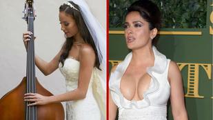 Salma Hayek gigadekoltázsa legyőzi Vajnáék esküvői fotóit?