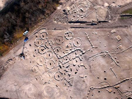 Légifelvétel az ásatásról
