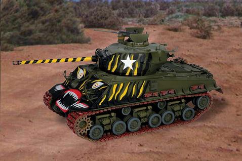 Sherman, teljes harci díszben