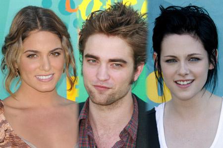 Nikki Reed, Robert Pattinson és Kristen Stewart