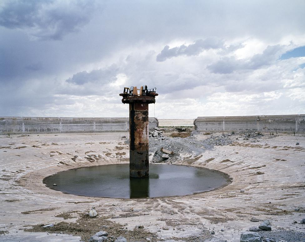 Ez itt egy használaton kívüli sűrítőtartály a St Helena aranybányánál Free State régióban. A dél-afrikai bányaipar túl van már a csúcson, de még a mai napig nyereséges.