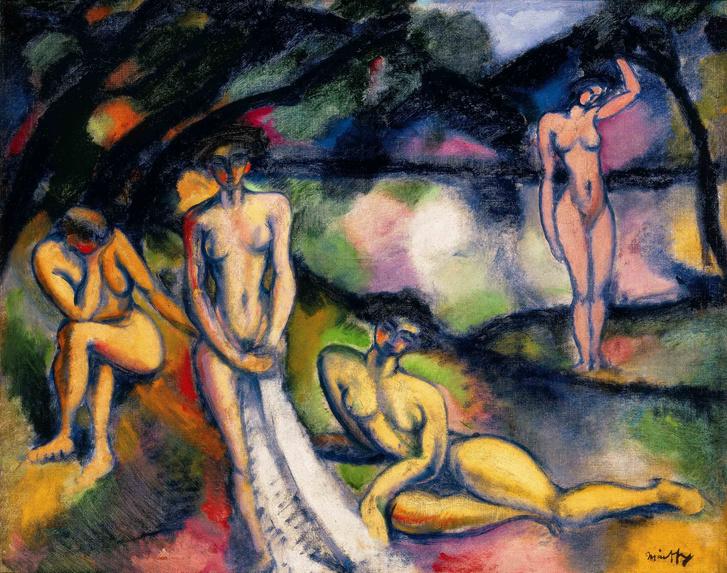 Márffy Ödön: Fürdő nők, 1909