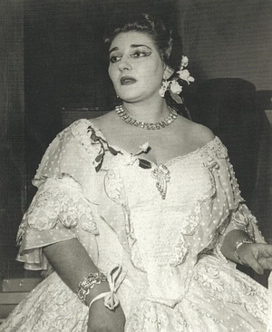 Maria Callas az átalakulás előtt