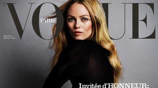 Vanessa Paradis pucéran pózol a francia Vogue-ban