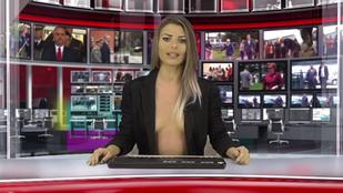 Albánia jobban teljesít: itt az új félmeztelen hírolvasó