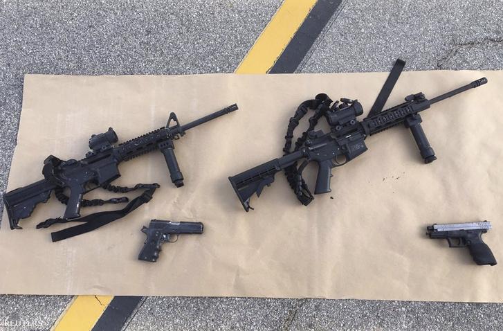 Az akció után lefoglalt fegyverek