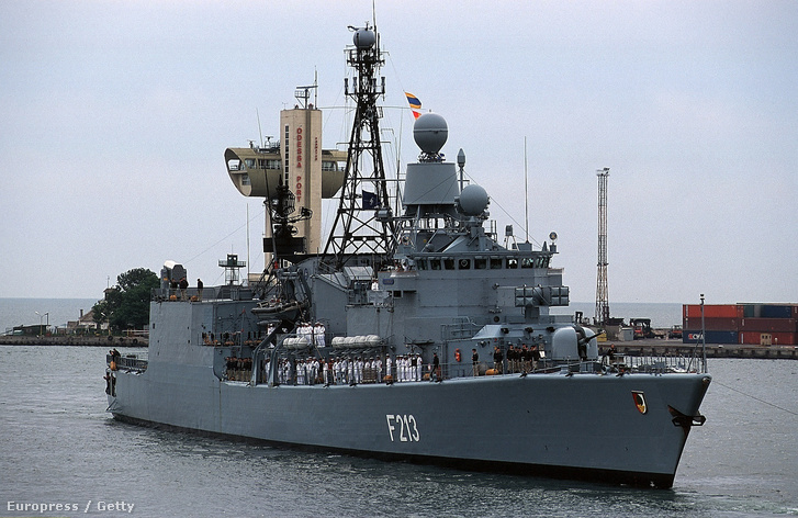 Az Augsburg fregatte.
