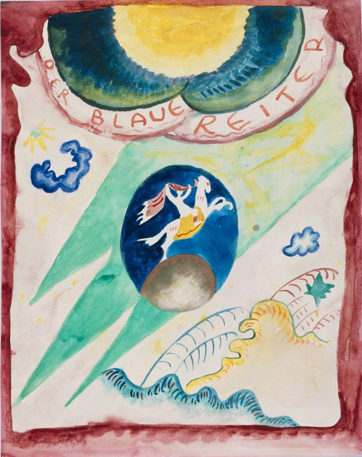 Kék Lovas - Vaszilij Kandinszkij: Vázlatok A Kék Lovas Almanach címlapjához, 1911