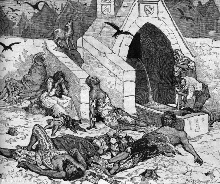 A pestis áldozatai 1544-ben Párizsban