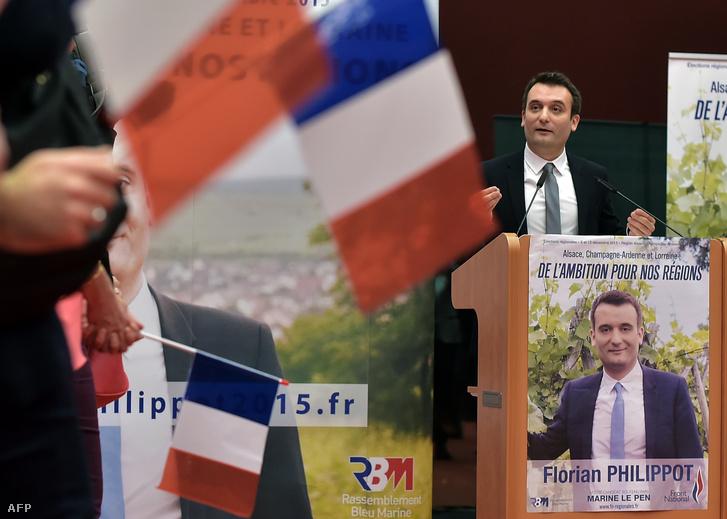Florian Philippot a Nemzeti Front egyik vezető jelöltje.