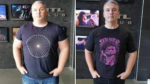 Fél év alatt 35 kilót fogyott Dombóvári István