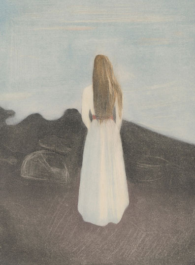 Fiatal lány a parton