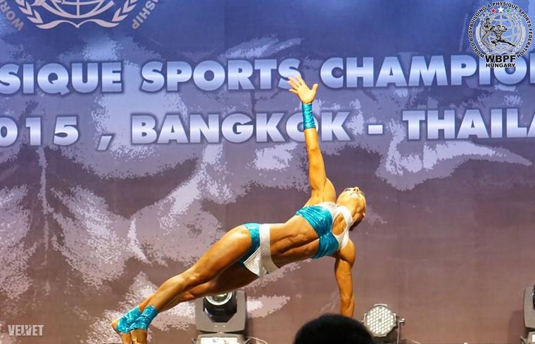 Bistei Judit Thaiföldön, a versenyen