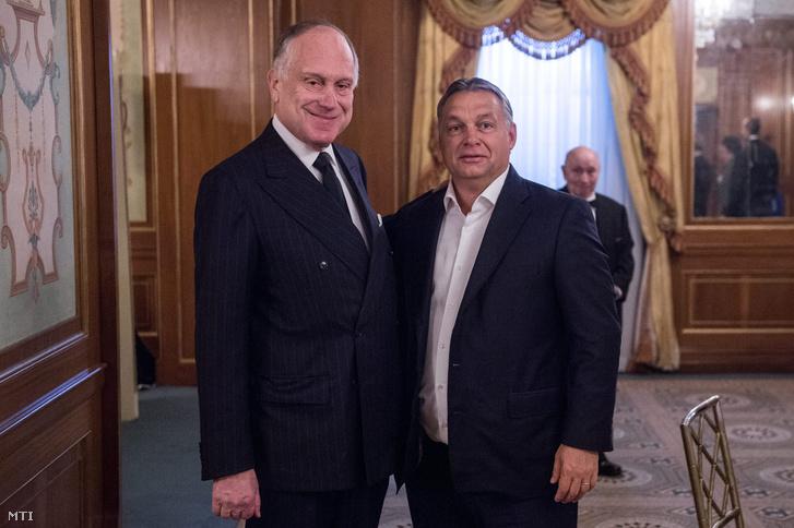 Orbán Viktor miniszterelnök (j) és Ronald Lauder a Zsidó Világkongresszus elnöke New Yorkban 2015. szeptember 30-án.