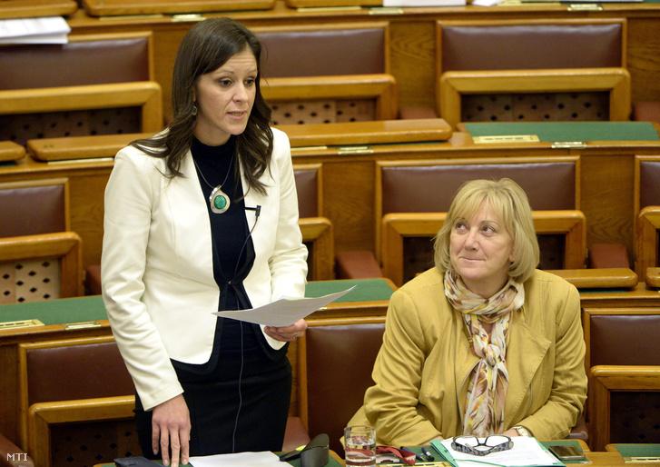 Szél Bernadett azonnali kérdést tesz fel az Országgyűlés plenáris ülésén 2015. november 23-án.