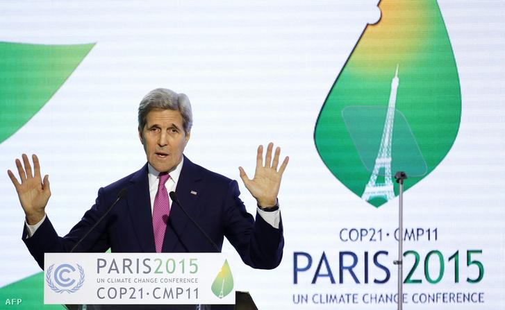 John Kerry, amerikai külügyminiszter a COP21 konferencián.