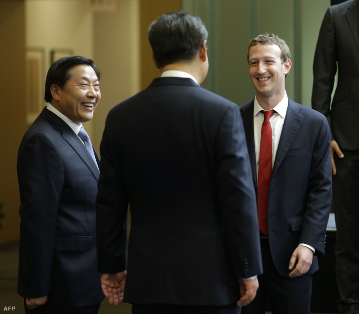 Lu Wei és Mark Zuckerberg
