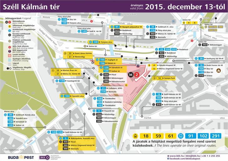 budapest széll kálmán tér térkép Index   Belföld   Vasárnaptól újra végig jár a 61 es villamos budapest széll kálmán tér térkép