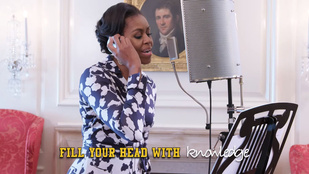 Ezen a videón az amerikai elnök felesége reppel