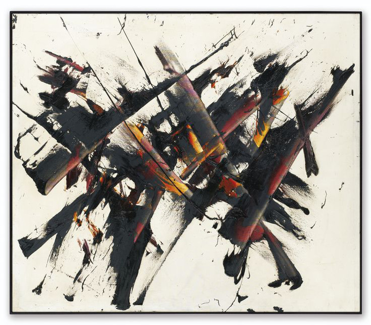 Reigl Judit:Elactement, 1956, olaj, vászon