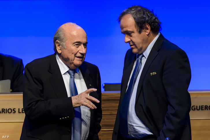 Sepp Blatter és Michel Platini