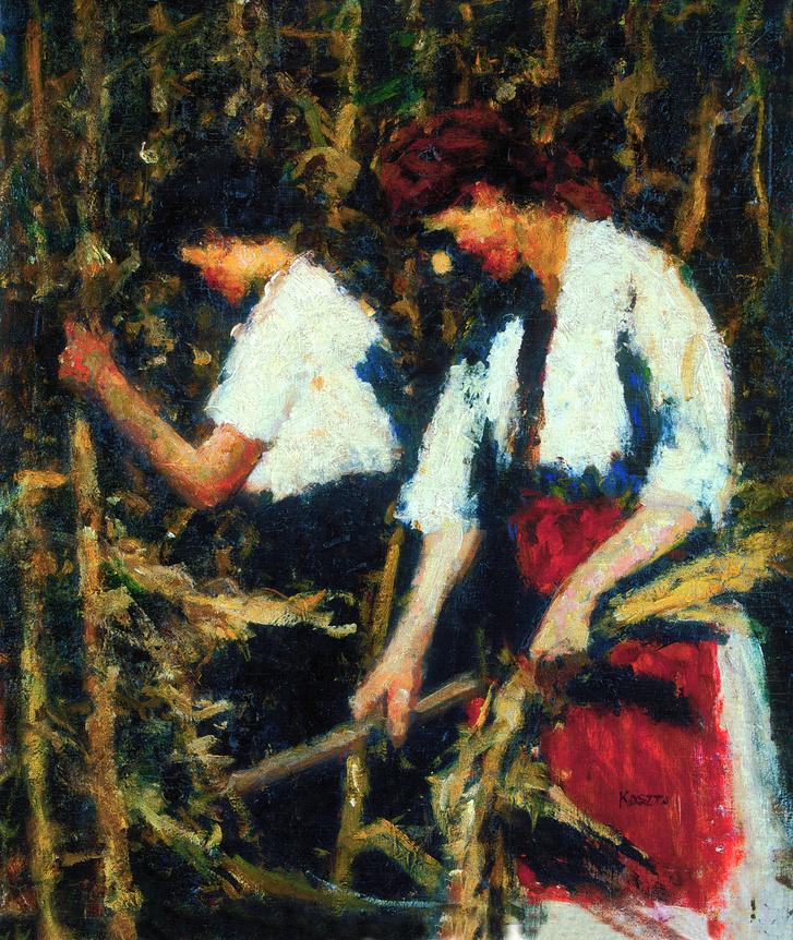 Koszta József: Kukoricatörés, 1910-es évek második fele