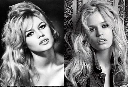 Balra Brigitte Bardot, jobbra Georgia Jagger