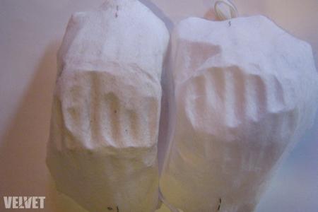Balra: Szigetet megjárt, jobbra: steril